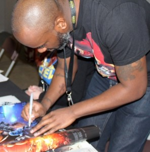 1 Phoenix James - Autograph Signing at Showmasters London Film and Comic Con - Star Wars First Order Stormtrooper Actors