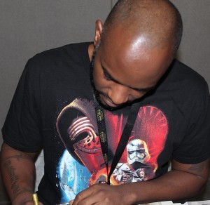 2 Phoenix James - Autograph Signing at Showmasters London Film and Comic Con - Star Wars First Order Stormtrooper Actors