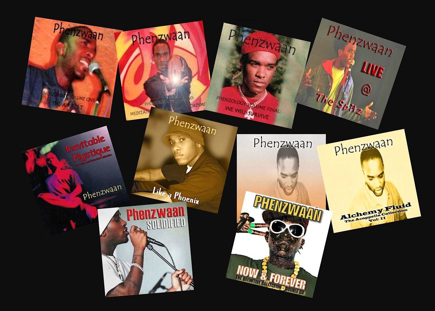 Phoenix James Phenzwaan Poetry and Spoken Word CD Albums Collection - Discography