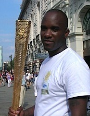 Phoenix James with the Olympic Torch