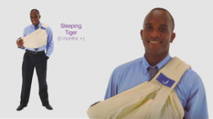 Phoenix James in theBabaSling Baby Carrier Campaign__
