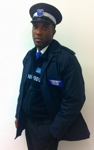 Phoenix James on set filming scenes as a Community Police Officer