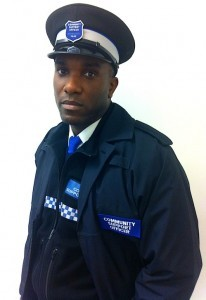 Phoenix James_on set filming scenes as a Community Police Officer