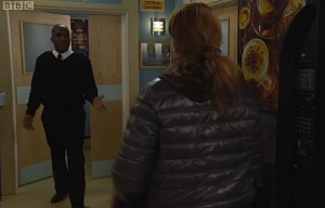 Phoenix James in EastEnders on BBC One television.