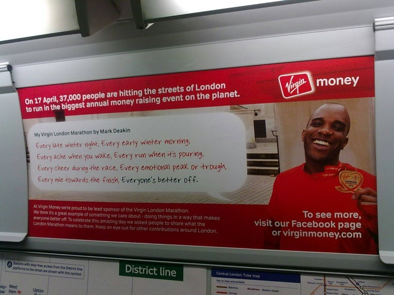 Phoenix James in Virgin Money & London Marathon Campaign