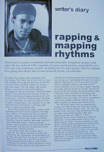 Phoenix James in the Press for Performance Poetry & Spoken Word 2001