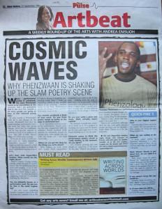 Phoenix James in the Press for Performance Poetry & Spoken Word 2004