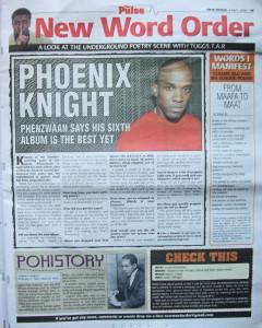 Phoenix James in the Press for Spoken Word & Performance Poetry 2006