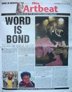Phoenix James in the Press for Spoken Word & Performance Poetry in 2004