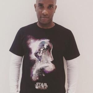 Phoenix James in Uniqlo's - Darth Vader - Star Wars t-shirt