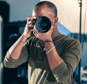 Phoenix James on the set of short film - HUSH.