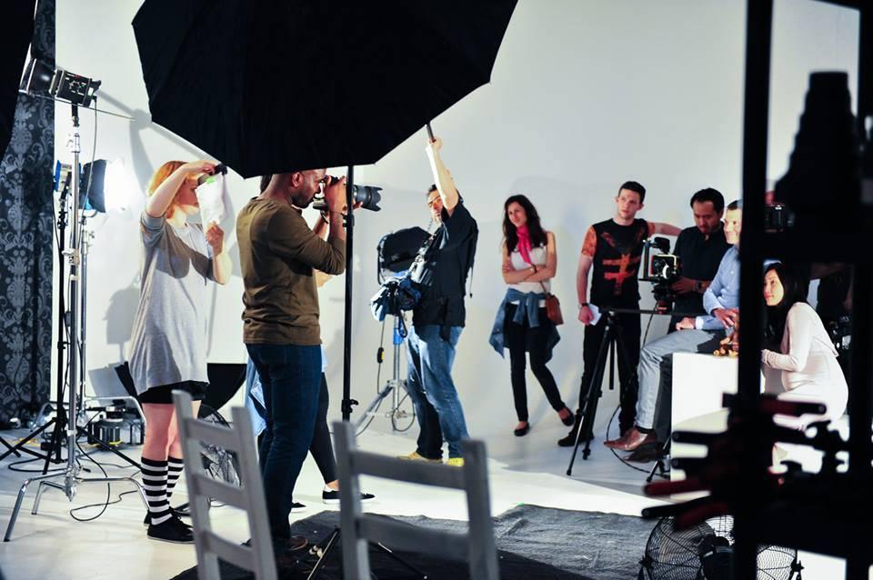 Phoenix James plays Jason on set of short film - HUSH