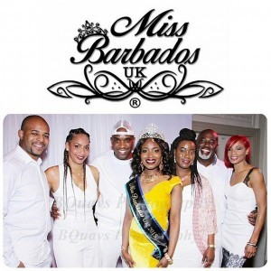 Phoenix James with Winner Victoria Small and the other Judges at Miss Barbados UK