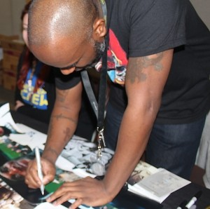 3 Phoenix James - Autograph Signing at Showmasters London Film and Comic Con - Star Wars First Order Stormtrooper Actors