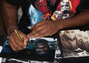 4 Phoenix James - Autograph Signing at Showmasters London Film and Comic Con - Star Wars Episode 7 8 9 VII VIII IX First Order Stormtrooper Actors
