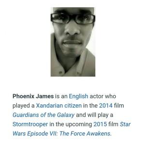 Phoenix James Star Wars Force Awakens Stormtrooper Actors Episode 7 8 9 VII VIII IX
