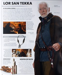 Details, Information and Backstory about character Lor San Tekka of Star Wars: The Force Awakens played by actor Max von Sydow