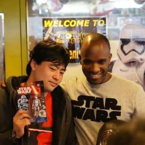 First Order Stormtrooper Actor Phoenix James at Monster Japan Toy Store in Tokyo 1