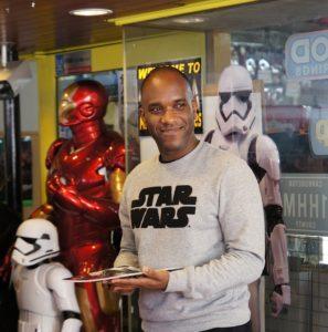 Star Wars Episode 7 8 9 VII VIII IX First Order Stormtrooper Actor Phoenix James at Monster Japan Toy Store in Tokyo 4