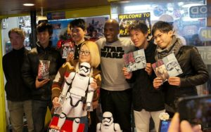 First Order Stormtrooper Actor Phoenix James at Monster Japan Toy Store in Tokyo 6