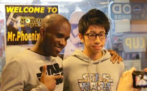 First Order Stormtrooper Actor Phoenix James at Monster Japan Toy Store in Tokyo 7