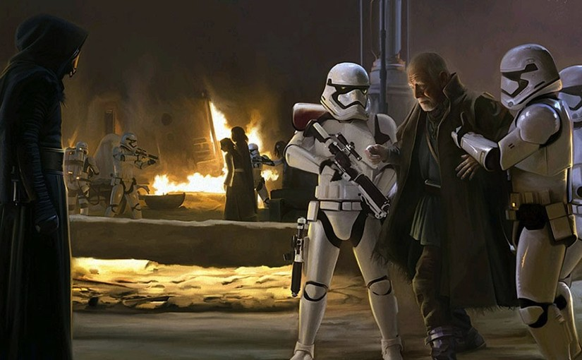 Phoenix James: First Order Stormtrooper brings Lor San Tekka before Kylo Ren