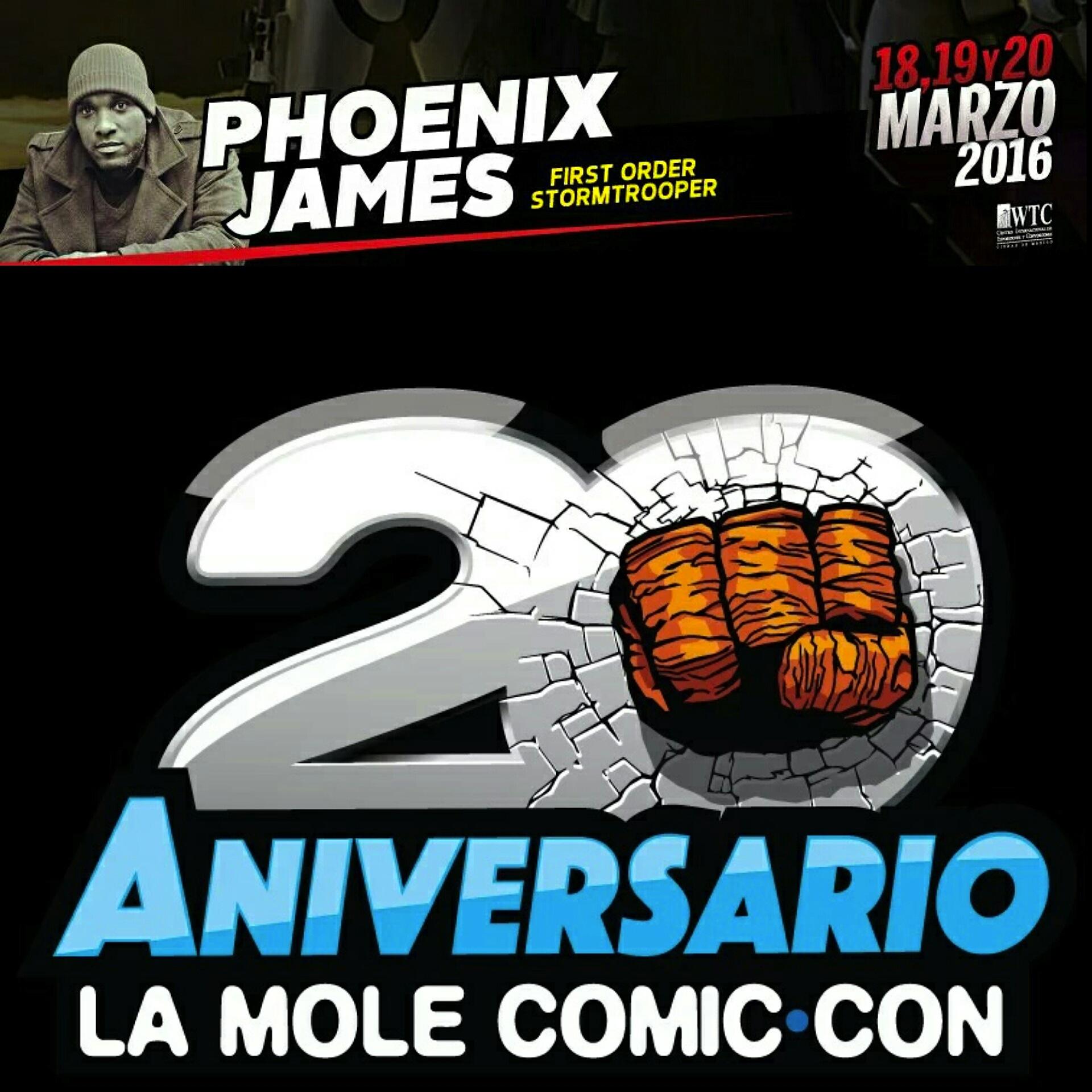 Phoenix James at La Mole Comic Con 20th Anniversary in Mexico