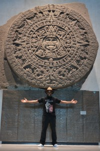 Phoenix James at the Teotihuacan Pyramids and The National Museum of Anthropology in Mexico 22