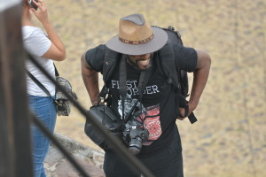 Phoenix James at the Teotihuacan Pyramids and The National Museum of Anthropology in Mexico 3