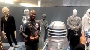 Phoenix-James-autographs-Dalek-from-original-Doctor-Who-TV-Show
