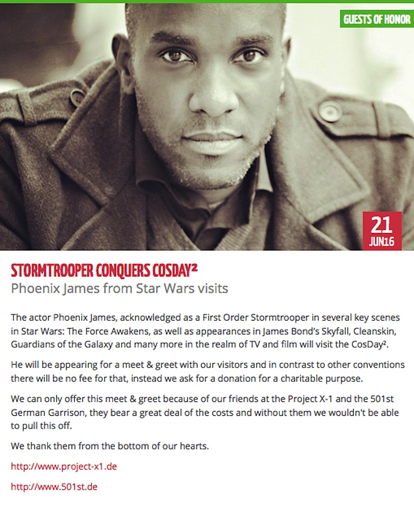Phoenix James conquers CosDay convention as a Guest of Honor at NordWestZentrum in Frankfurt Germany