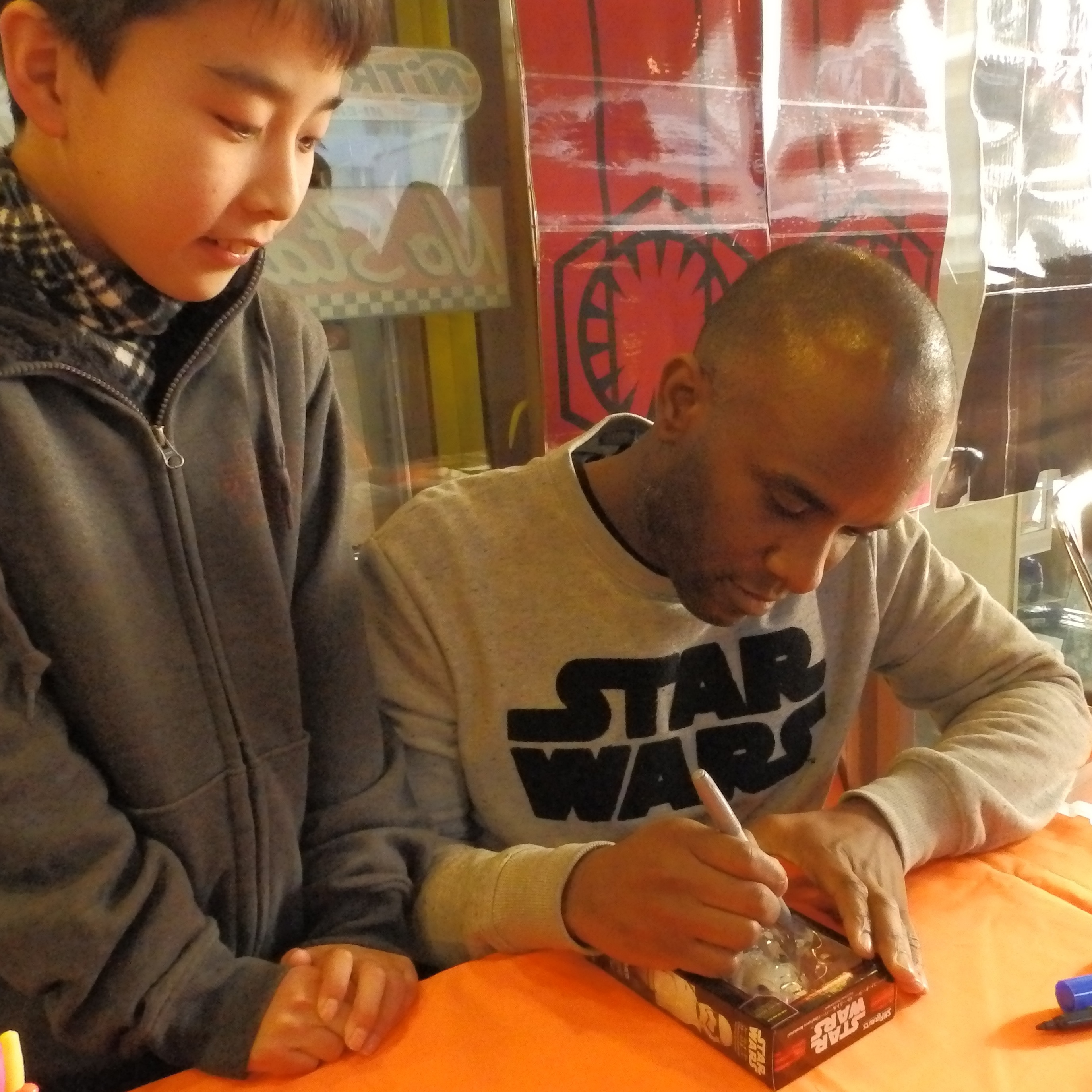 Phoenix James - First Order Stormtrooper Actor - Autograph Signing Tour in Tokyo, Japan 15