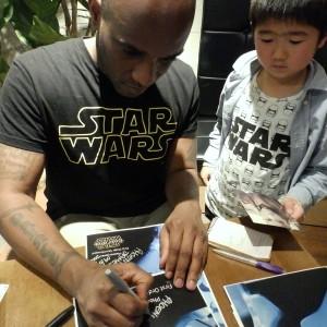 Phoenix James - First Order Stormtrooper Actor - Autograph Signing Tour in Tokyo, Japan 3 Episode 7 8 9 VII VIII IX