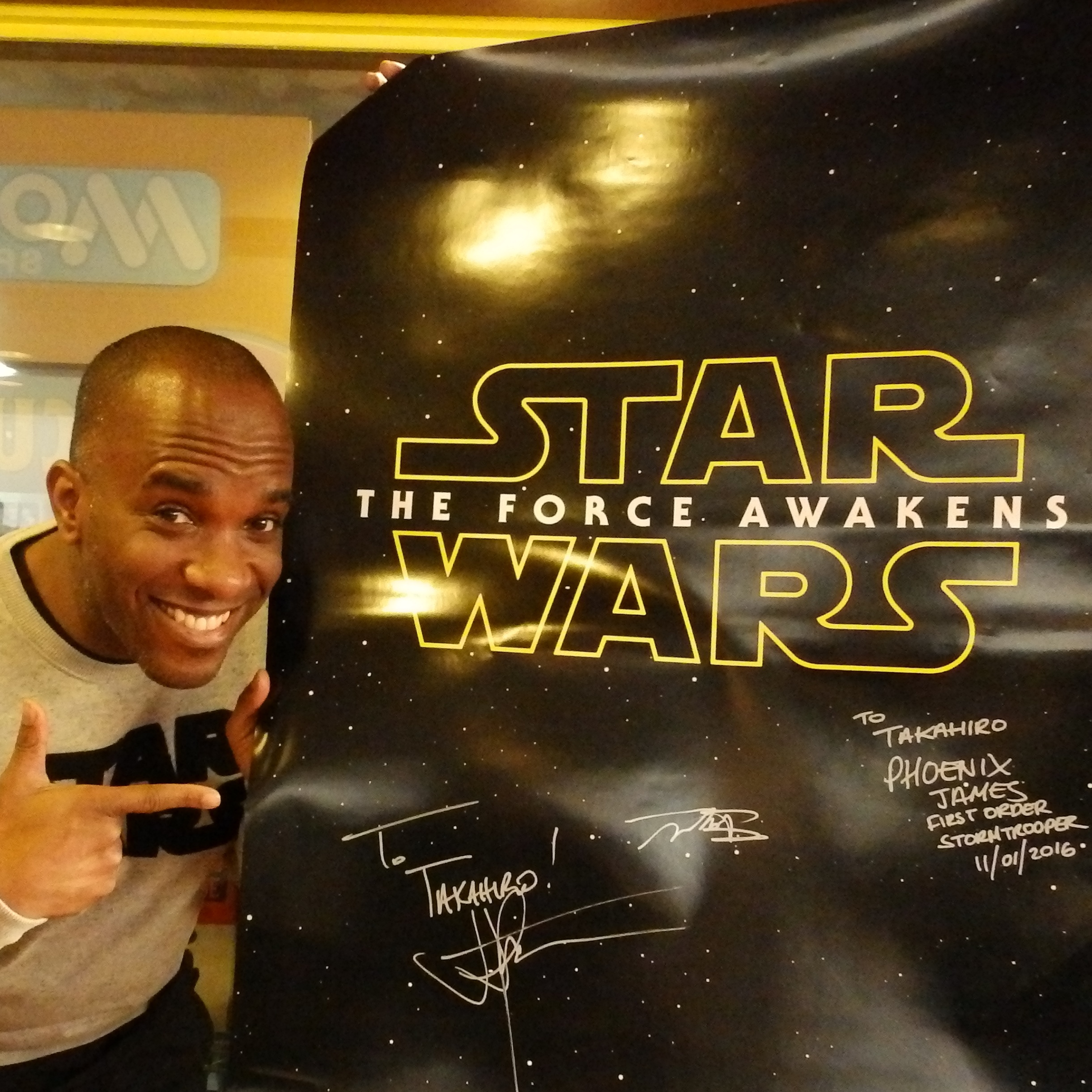 Phoenix James - First Order Stormtrooper Actor - Autograph Signing Tour in Tokyo, Japan 6