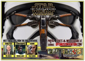 Phoenix James - First Order Stormtrooper Actor - Star Wars - The Force Awakens - Guest Appearance and Autograph Signing at Optimus Convention - Bristol Comic Con