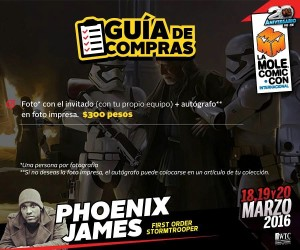 Phoenix James - First Order Stormtrooper Actor - Star Wars - The Force Awakens - La Mole Comic-Con - Mexico