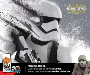Phoenix James - First Order Stormtrooper Actor - Star Wars - The Force Awakens - La Mole Comic-Con - Mexico Federal District