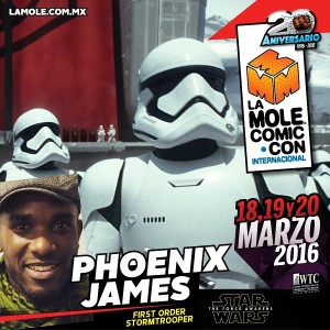 Phoenix James - First Order Stormtrooper Actors - Star Wars - The Force Awakens - La Mole Comic Con - Mexico World Trade Center