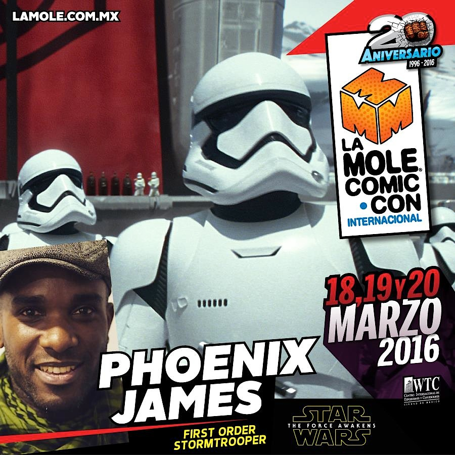 Phoenix James - First Order Stormtrooper Actors - Star Wars - The Force Awakens - La Mole Comic Con - Mexico World Trade Center