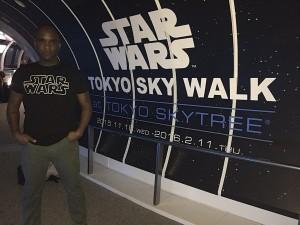 Phoenix James - First Order Stormtrooper Actors - STAR WARS Tokyo Sky Walk at Tokyo Skytree - Japan Episode 7 8 9 VII VIII IX