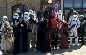 Phoenix James - First Order Stormtrooper Actor with Sentinal Squad UK in Scunthorpe at Baths Hall