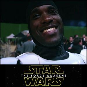 Actors Phoenix James - First Order Stormtrooper - Star Wars: The Force Awakens. Disney & Lucasfilm Ltd Episode 7 8 9 VII VIII IX