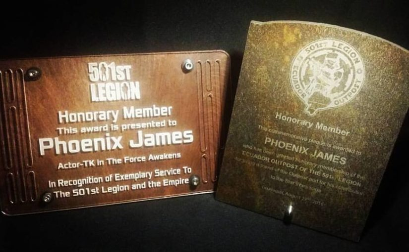 Phoenix James – Honorary Member of the worldwide 501st Legion
