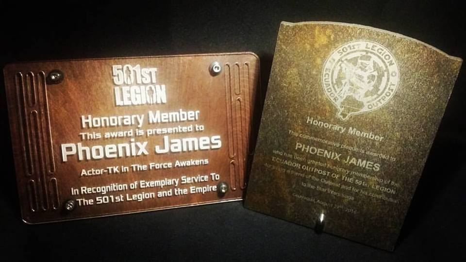 Phoenix James - Honorary Member of The 501st Legion and of the Ecuador Outpost