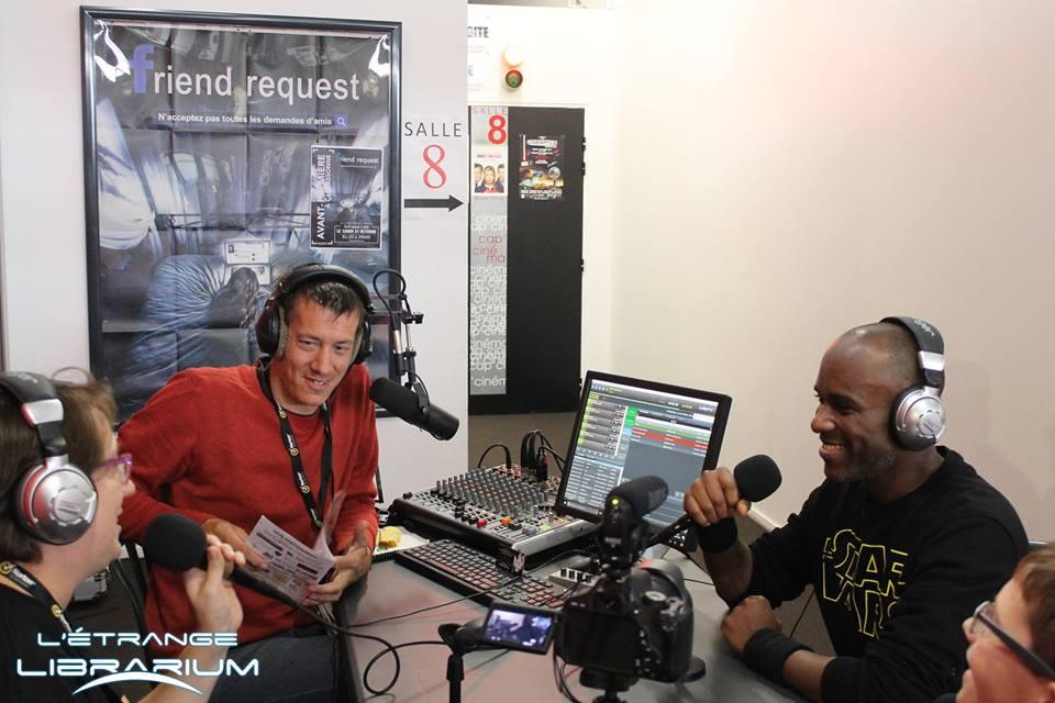 Phoenix James Live Radio Interview for LRDTV - La Radio De Tes Vacances during Cinespace launch event at Cap'Cinema in Carcassonne