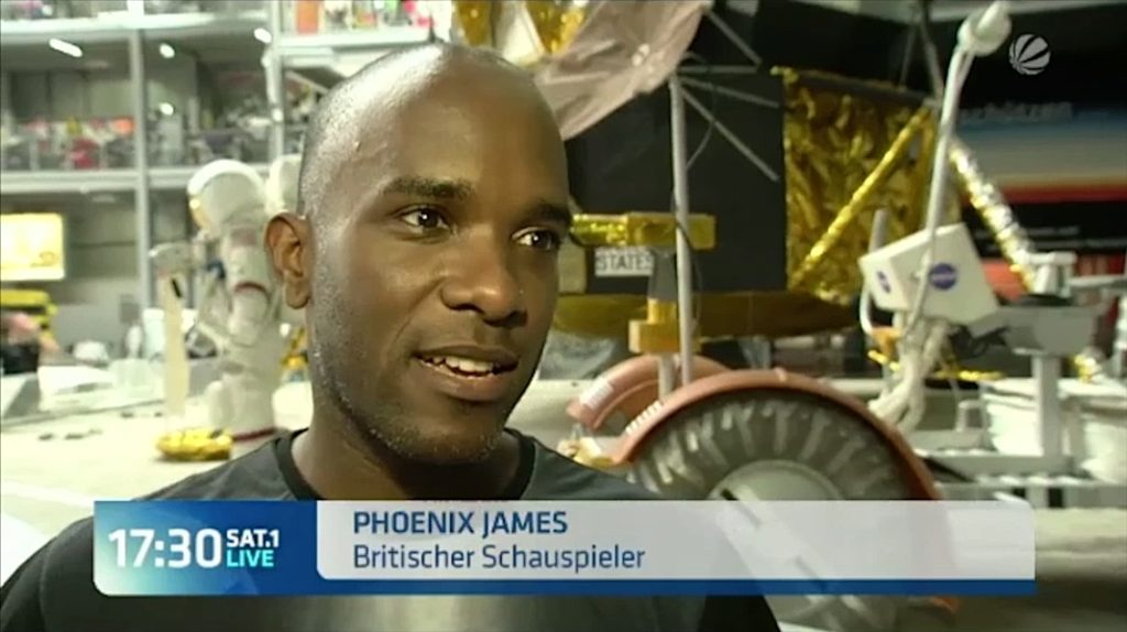 Phoenix James appears on 17:30 SAT.1 LIVE news. He attended as a special guest at Technik Museum Speyer: Science Fiction Convention in Speyer, Germany.