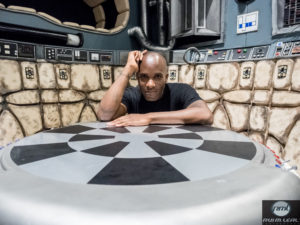 Phoenix James on set of the Millennium Falcon on The STAR WARS Show LIVE! stage at Celebration Europe 2016 - 2