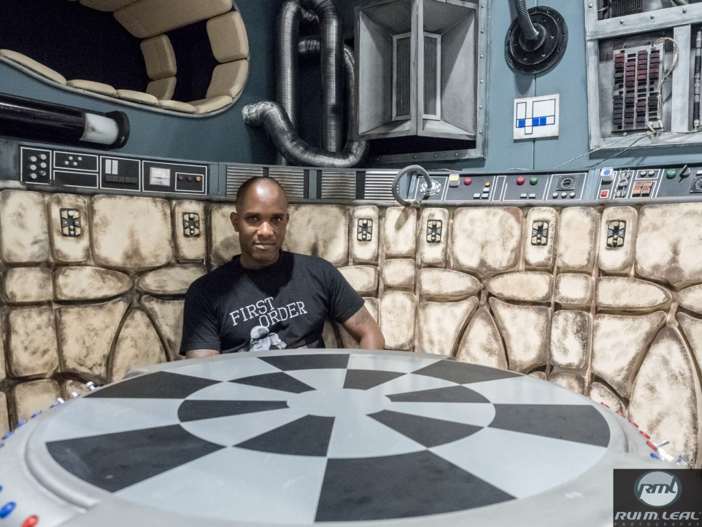 Phoenix James on set of the Millennium Falcon on The STAR WARS Show LIVE! stage at Celebration Europe 2016 - 3
