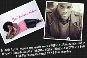 Phoenix James on The Justeve Show on AfroGlobal Television Network in Toronto Canada