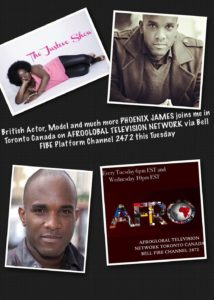 Phoenix James on The Justeve Show on AfroGlobal Television Network Toronto Canada
